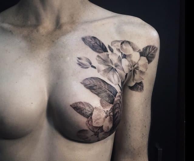 breast scar tattoo art