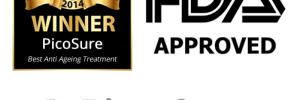 award, fda and picosure logos