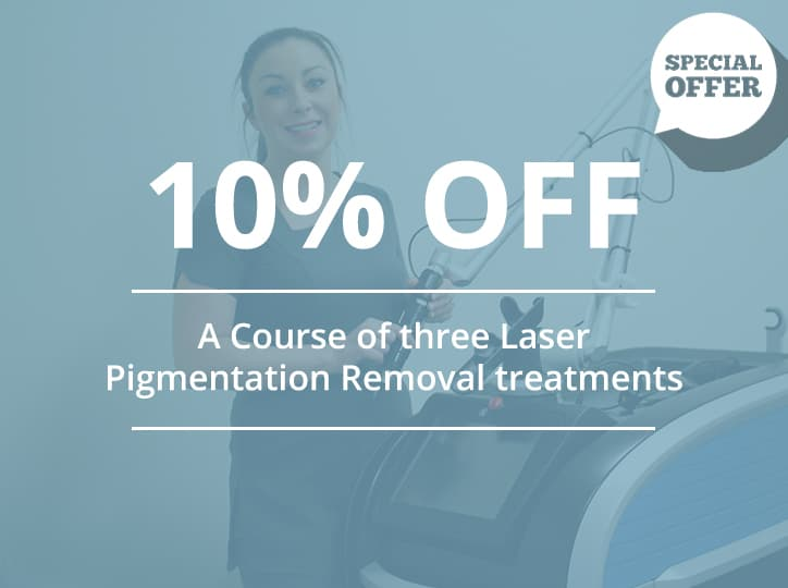 10% off a course of three laser pigmentation treatments
