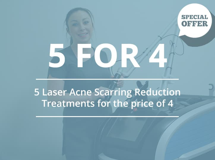 5 laser acne scarring reduction treatments for price of 4