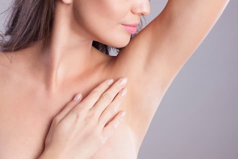 woman armpit hair removed